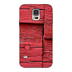 Red Kil Wood Back Case Cover for Samsung Galaxy S5
