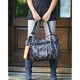 Wendy Bellissimo Tamale Studded Tote Diaper Bag In Grey/Orange