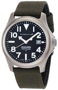 Momentum Men's 1M-SP00B6G Atlas Black Dial Khaki Cordura Watch