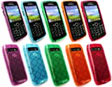 FLASH SUPERSTORE BLACKBERRY 9100 / 9105 PEARL 3G BUNDLE OF 5 CIRCLES PATTERN GEL SKIN COVER/CASE - ORANGE, PURPLE, BLUE, GREEN AND RED