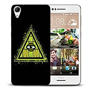 Snoogg Triangle Eye Designer Protective Back Case Cover For HTC DESIRE 728 DUAL SIM