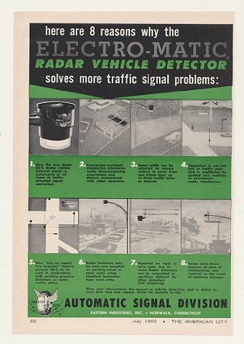 1960 Auto Signal Electro-Matic Radar Vehicle Detector Print Ad (45097)