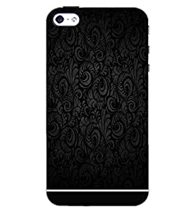 PrintDhaba BLACK PATTERN D-6323 Back Case Cover for APPLE IPHONE 4S (Multi-Coloured)