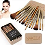 Nestling� 12 Pcs Bamboo Handle Makeup...