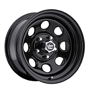 Vision Soft 8 16 Black Wheel / Rim 5x5 with a -12mm Offset and a 83 Hub Bore. Partnumber 85-6873NS