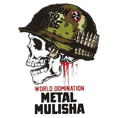 Metal Mulisha Unisex World Domination Sticker White 4.5 x 6
