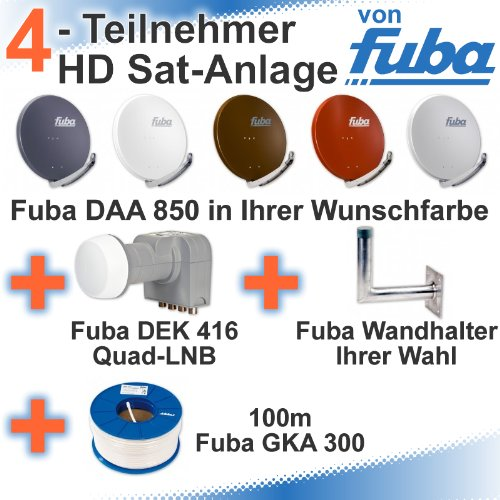 fuba daa 850 hd sat anlage 4 teilnehmer dek 416 sat anlage bestehend aus fuba daa 850 in. Black Bedroom Furniture Sets. Home Design Ideas