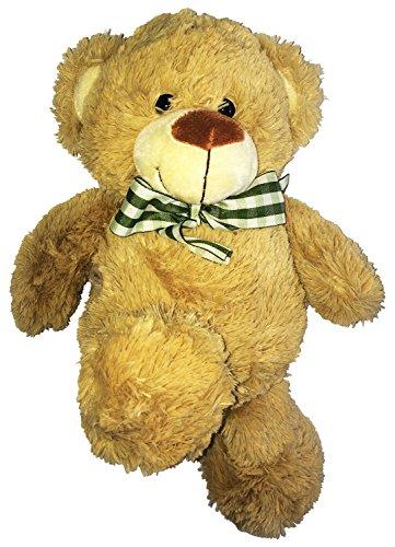 Kuscheliger-Stofftier-Teddy-fr-Gro-und-Klein-flauschiger-Teddybr-mit-Schleife-das-ideale-Kuscheltier-als-Geschenk-fr-die-Freundin-oder-fr-Kinder-35cm-brauner-Plschbr
