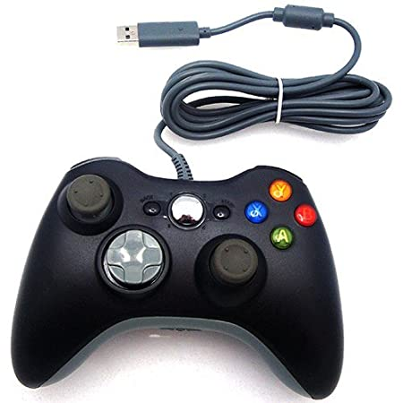 Xbox 360 Wired USB Controller (Black) for PC & Xbox 360
