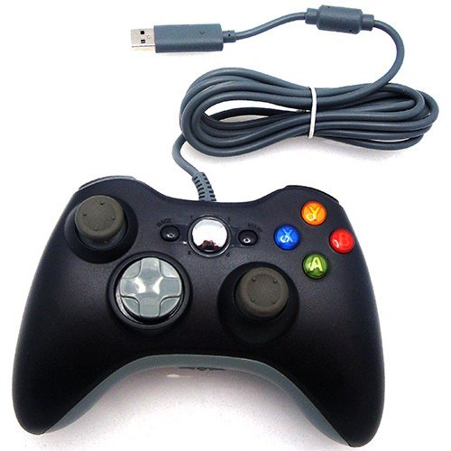 Wired USB Controller for PC & Xbox 360 (Black)
