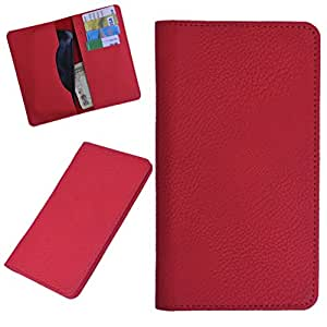 DCR Pu Leather case cover for Videocon Infinium Z50 Nova (RED)