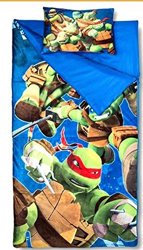 sleeping-bags-for-boys-ninja-turtle-slumber-bag-45-degrees-fahrenheit-and-pillow-2-piece-set