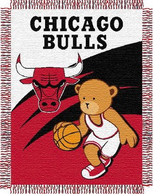 NBA Chicago Bulls 36-Inch-by-46-Inch Woven Jacquard Baby Throw at Amazon.com