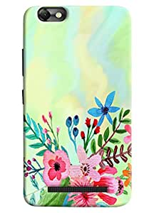 Omnam Colorful Flowers Effect Printed Designer Back Cover Case For Lenovo Vibe C (A2020)