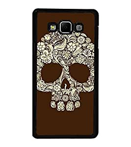 Fuson Premium 2D Back Case Cover Skull With Multi Background Degined For Samsung Galaxy A7::Samsung Galaxy A7 A700F