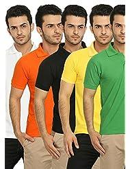 Fundoo-T Men's Polo T-Shirt Set Of 5