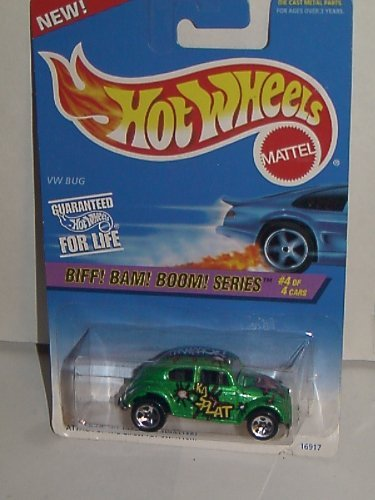 1997 HOT WHEELS BIFF! BAM! BOOM! SERIES #4/4 VW BUG 5 SPOKE - NO HOT WHEEL TAMPO - 1