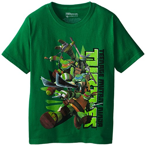 Bioworld Big Boys' Teenage Mutant Ninja Turtles Group Pose T-Shirt