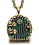 REINDEAR Hobbit Lord of the Rings Locket Shire Movable Door Pendant Necklace US SELLER