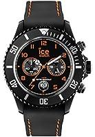 Ice-Watch Mens Gents CHBOEBS14 Orange And Black Silicon Strap Wrist Watch