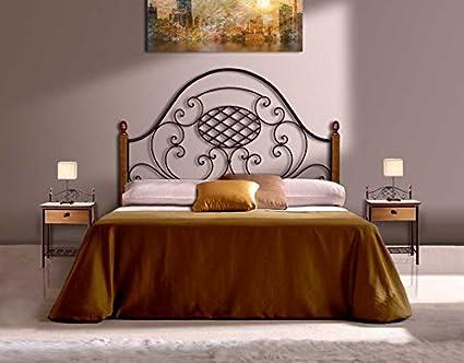 Têtes de lit en fer forgé et bois: modèle VERONICA.