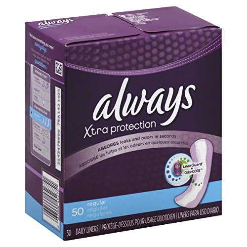 Always Dri-Liners Pantiliners, Pads, Unscented 50 ea