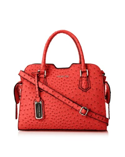 London Fog Women's Brooke Satchel, Red As You See