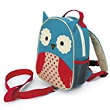 Skip Hop Zoo Little Kid and Toddler Safety Harness Backpack, Ages 2+, Multi Otis Owl