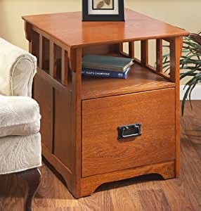 MISSION STYLE END TABLE/FILE C
