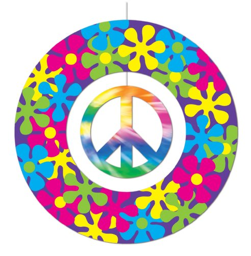 Peace Sign Mobile Party Accessory (1 count) (1/Pkg)