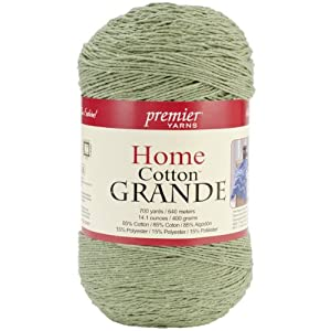 Premier Yarns Solid Home Cotton Grande Yarn, Sage
