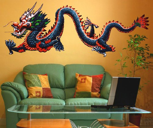 Beautiful Dragon Wall Decals Easy To Apply And Remove - Custom vinyl wall decals dragon