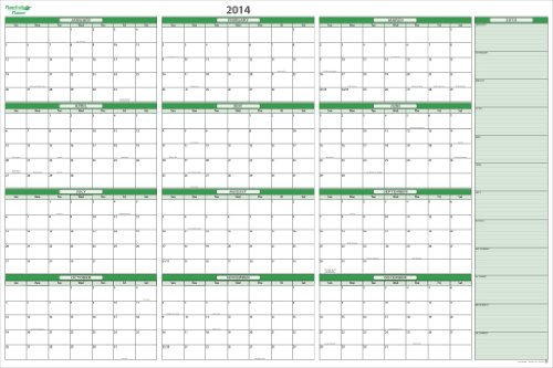Extra Large Monthly Wall Calendar Printable | Calendar Template 2016