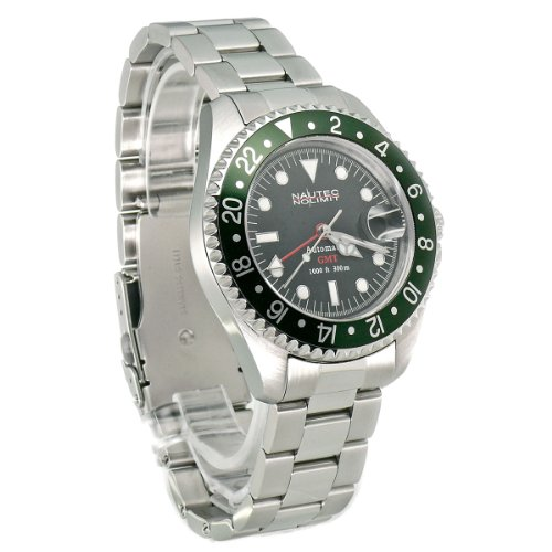 Nautec No Limit Herren-Armbanduhr Deep Sea DS AT-GMT/STSTGRBK 4