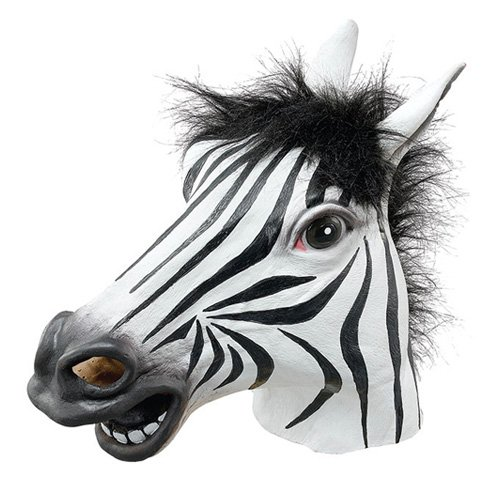Halloween de la cabeza Zebra latex Mask