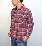 シュガーケーン SUGAR CANE SC27383 長袖チェックシャツ レッド色 ツイルシャツ ワークシャツ 東洋エンタープライズ サイズL