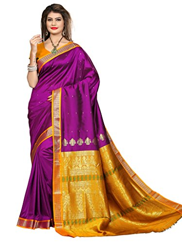 Shobha Sarees Boomkai Mysore Silk Saree (Purple)