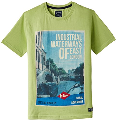 Lee Cooper Boys' T-Shirt (LCBT-4151-801-B-HS-G, 11-12, APPLE GREEN)