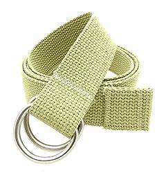 Premium Cotton Web Belt D-Ring Buckle 1.25