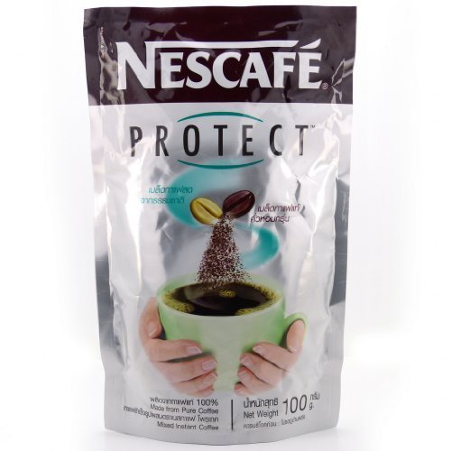 Nescafe Protect Made From Pure Coffee Mixed Instant Coffee Antioxidants 100 G. Best Product From Thailand