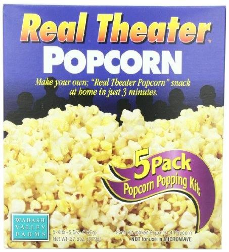 Wabash Valley Farms Real Theater All-Inclusive Popping Kits, 5-Count Pouches (Pack of 3) (Wabash Valley Farms Popcorn Kits compare prices)