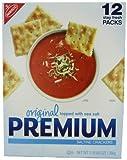 Nabisco original topped with sea salt premium saltine crackers stay fresh packs.