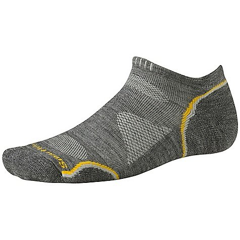 Smartwool PhD Outdoor Light Micro Sock Medium Gray / Gold Medium