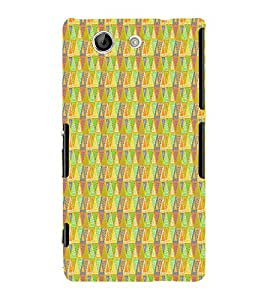 Triangle Shape Pattern 3D Hard Polycarbonate Designer Back Case Cover for Sony Xperia Z4 Mini :: Sony Xperia Z4 Compact
