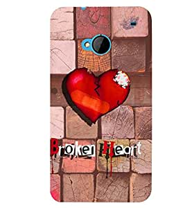 PRINTSWAG BROKEN HEART Designer Back Cover Case for HTC ONE M7