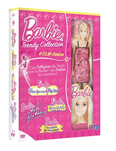Barbie Trendy Collection (4 DVD + Bambola)