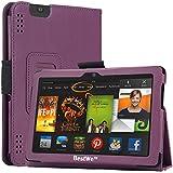 Bestwe Ultra Slim Protective Ledertasche Flip Case Tasche Etui für Kindle Fire HDX 7 Tablet mit Ständerfunktion--Multi Color Options (Kindle Fire HDX 7 Tablet, Lila)