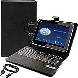 kwmobile Hülle mit Bluetooth Tastatur für Asus Padfone 2 mit Ständer - Kunstleder Tablet Schutzhülle in Schwarz