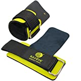 Best Lifting Straps - Weight Lifting Exercise Gymnastics Crossfit Workout Grips Gripper Pads - With Premium Built in Adjustable Wrist Support, Guards, Wraps - Better Than Workout Gloves - Non Slip - No More Calluses and Grip Fatigue - BONUS FREE Carry Pouch INCLUDED - Lifetime Guarantee