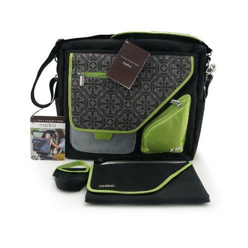JJ Cole Metra Diaper Bag (Midnight Clover)